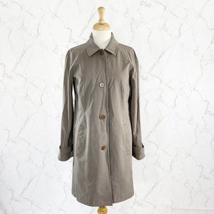 Theory Button Front Lined Trench Coat